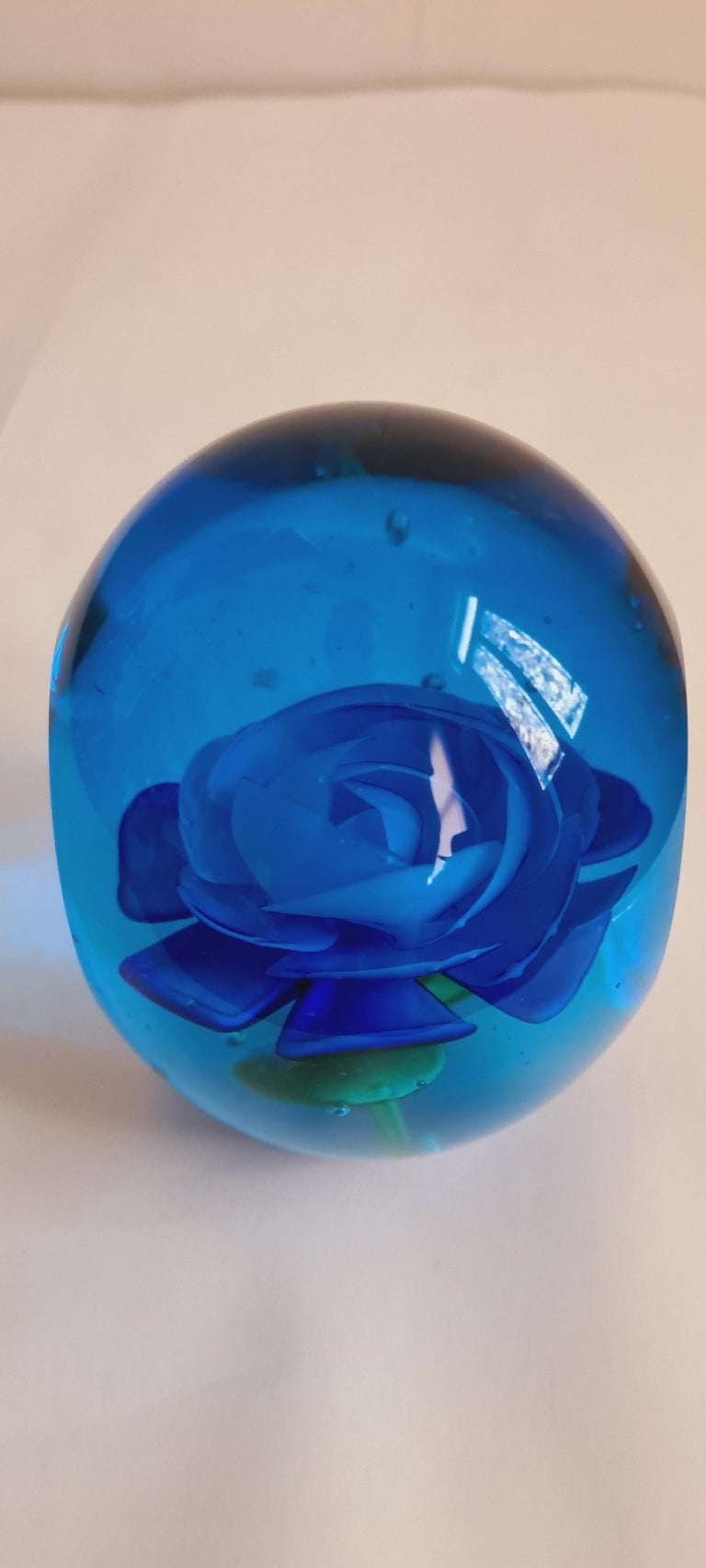 Other Murano Glass Faceted Paperweight, Archimede Seguso For Sale