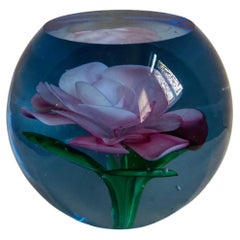 Murano Glass Faceted Paperweight