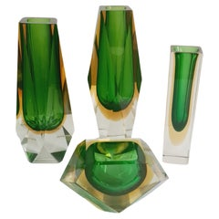 Murano Glass Faceted Set