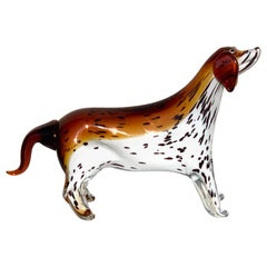 Murano Glass Figure of Spotted Dog