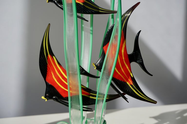 Murano Glass Fish Sculpture For Sale 5