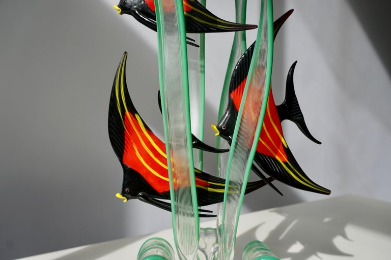 Murano Glass Fish Sculpture For Sale 1