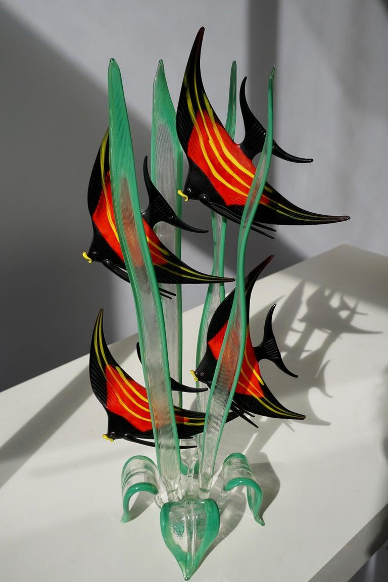 Murano Glass Fish Sculpture For Sale 2
