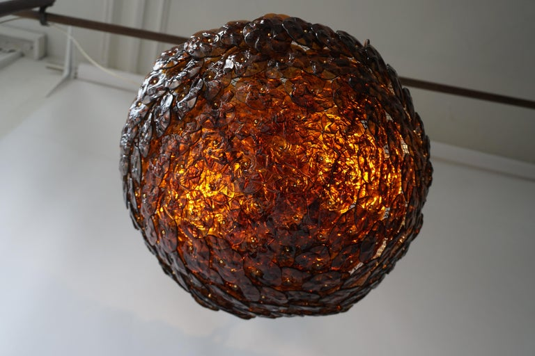 Murano Glass Flower Basket Flush Mount Wall Lamp by Barovier & Toso, 1960s In Good Condition For Sale In Antwerp, BE