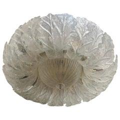 Murano Glass Flower Light Fixture