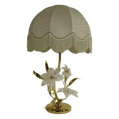 Murano Glass Flower Table Lamp, 1970s