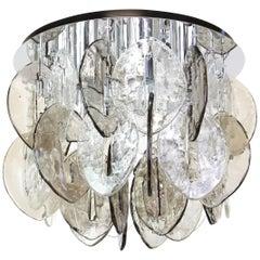 Muranoglas Einbaubeleuchtung, Entworfen von Carlo Nason für Kalmar, 1960er