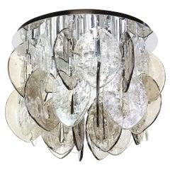 Murano Glass Flush Mount Designed by Carlo Nason for Kalmar, 1960s