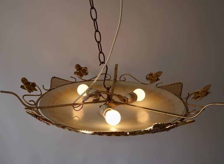 Murano Glass Flush Mount or Wall Lamp, Italy, 1950s For Sale 3