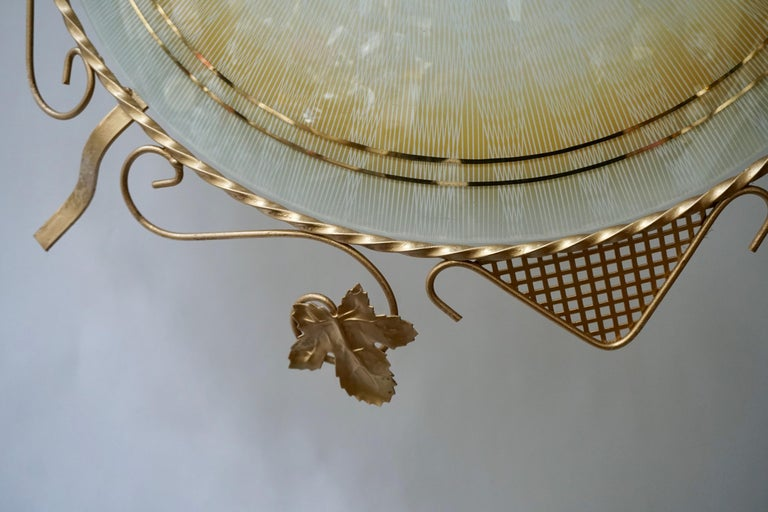 Murano Glass Flush Mount or Wall Lamp, Italy, 1950s In Good Condition For Sale In Antwerp, BE