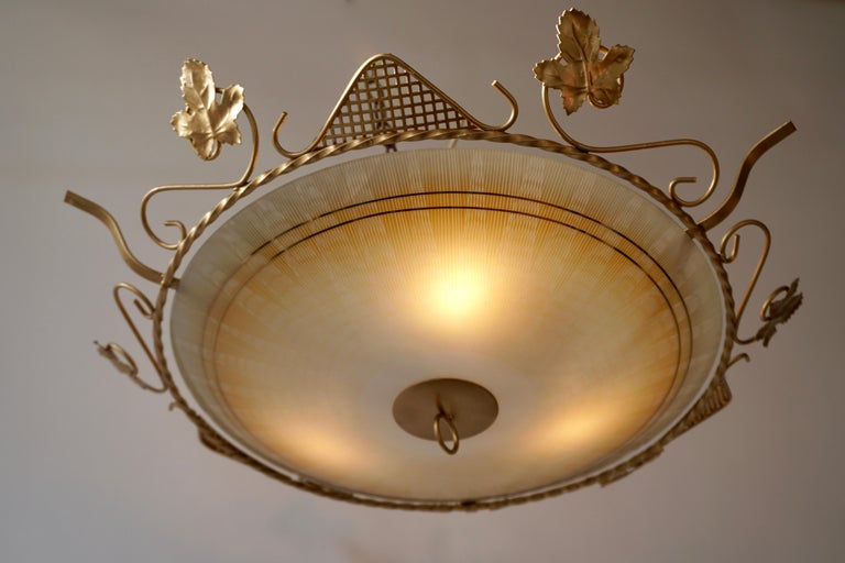 Murano Glass Flush Mount or Wall Lamp, Italy, 1950s For Sale 2