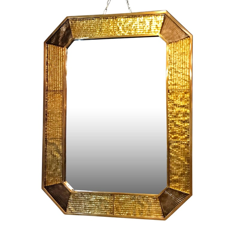 Murano Glass Framed Mirror, Italy, Contemporary For Sale