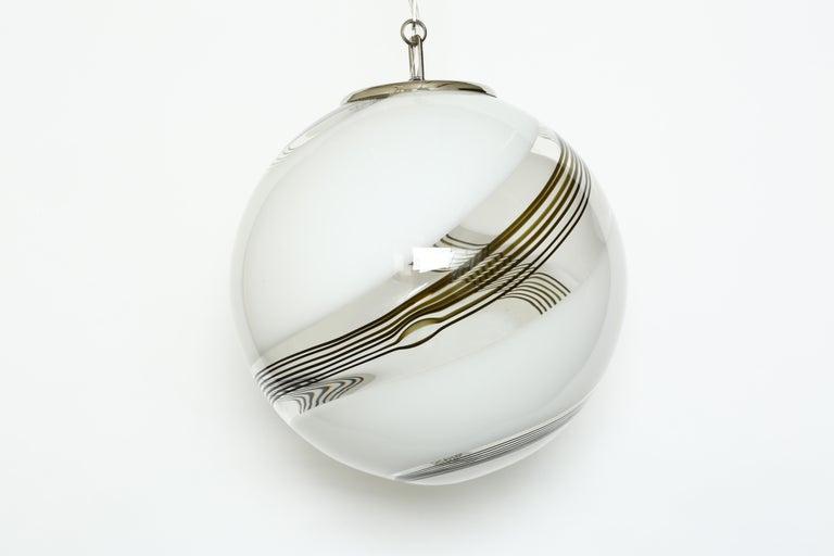 Italian Murano Glass Globe Ceiling Pendant For Sale