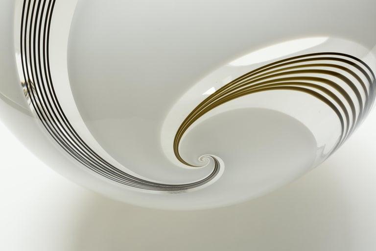 Late 20th Century Murano Glass Globe Ceiling Pendant For Sale