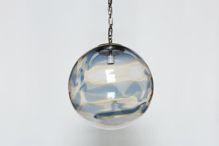 Murano Glass Globe Ceiling Pendant For Sale 1