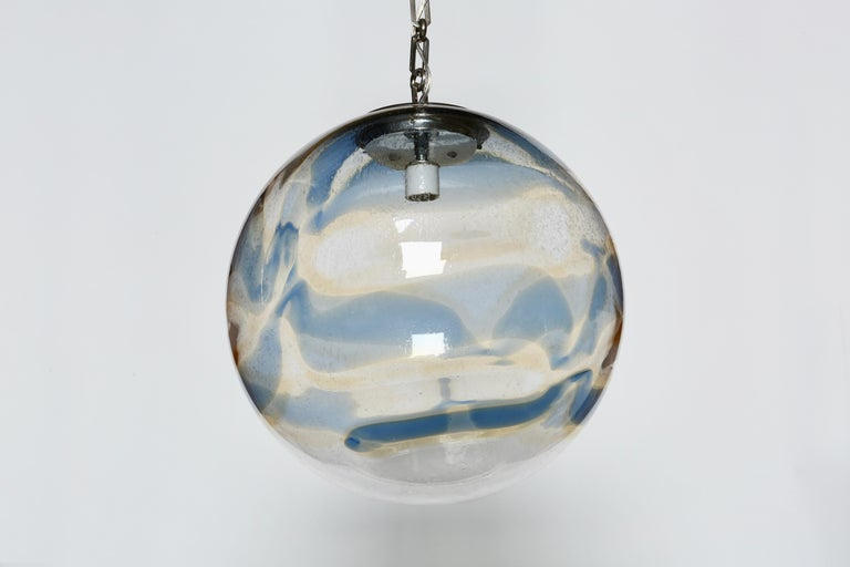 Murano Glass Globe Ceiling Pendant For Sale 2
