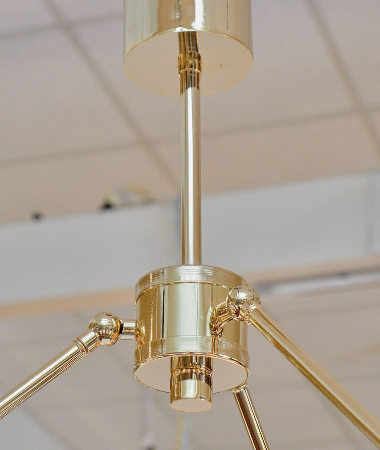 Murano Glass Globe Chandelier In Excellent Condition For Sale In Austin, TX