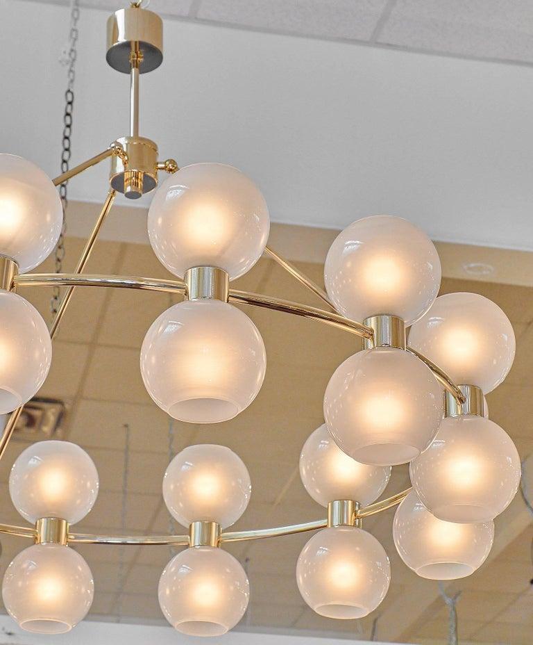 Contemporary Murano Glass Globe Chandelier For Sale