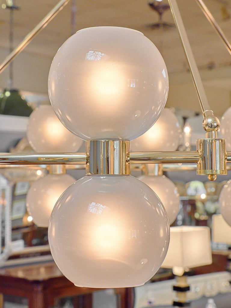 Murano Glass Globe Chandelier For Sale 2