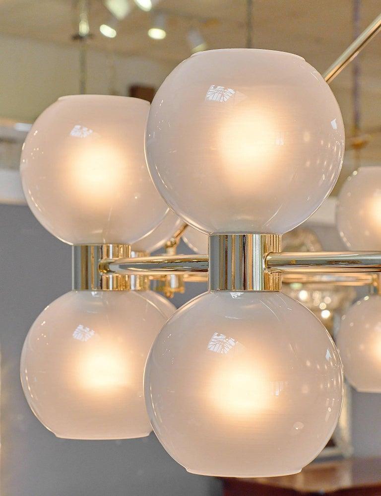 Murano Glass Globe Chandelier For Sale 3