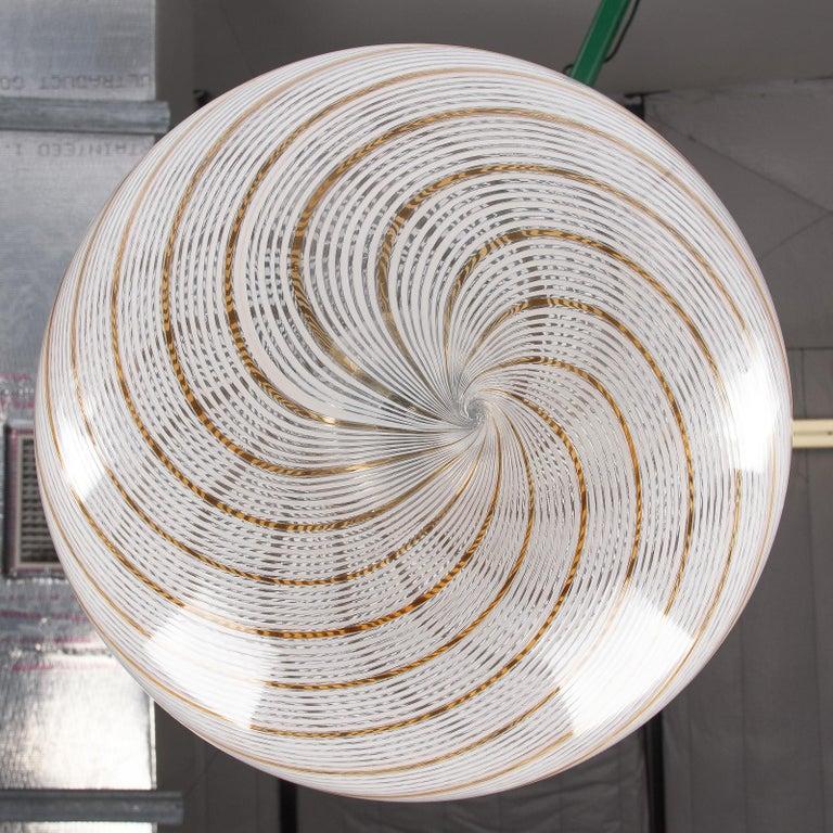 Murano Glass Globe Pendant by Venini, 1970s For Sale 6