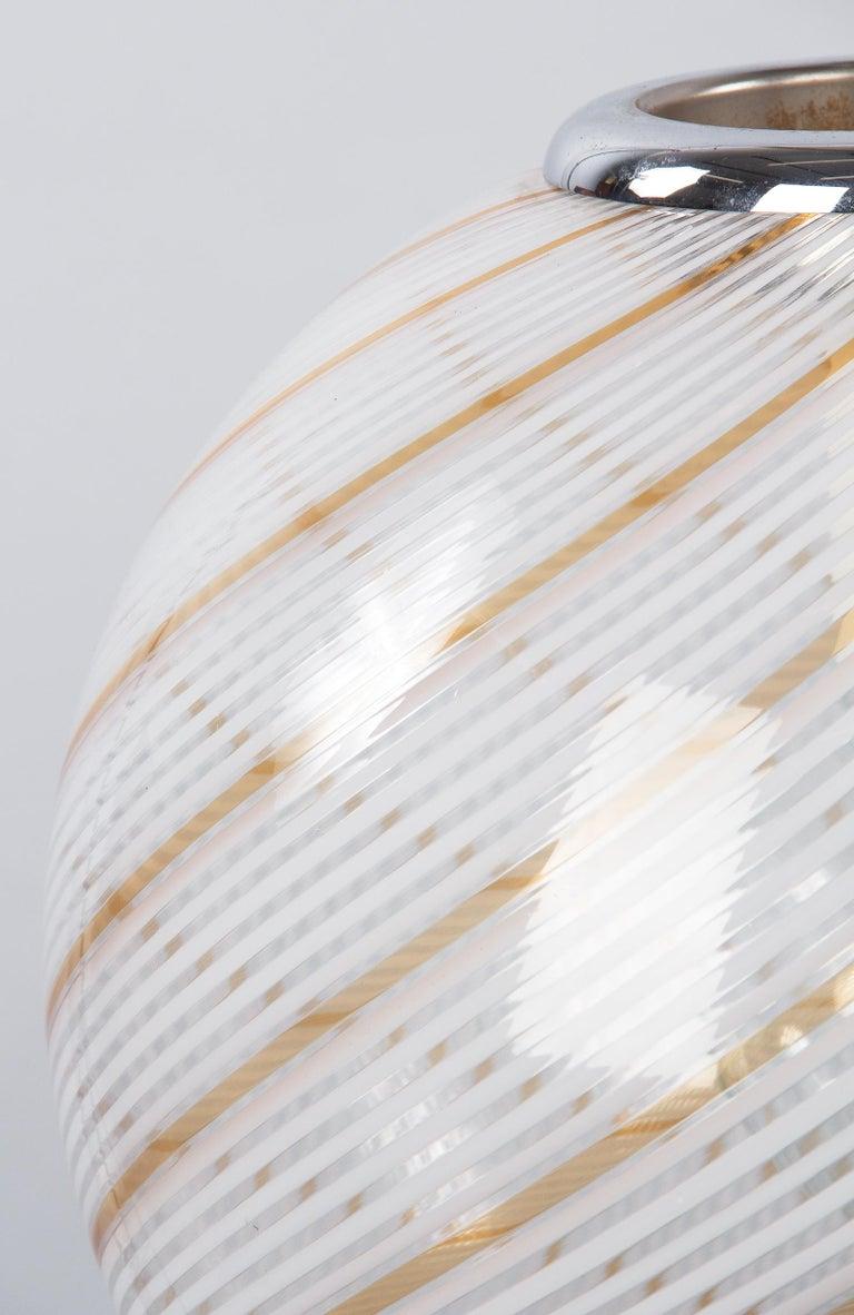 Murano Glass Globe Pendant by Venini, 1970s For Sale 1
