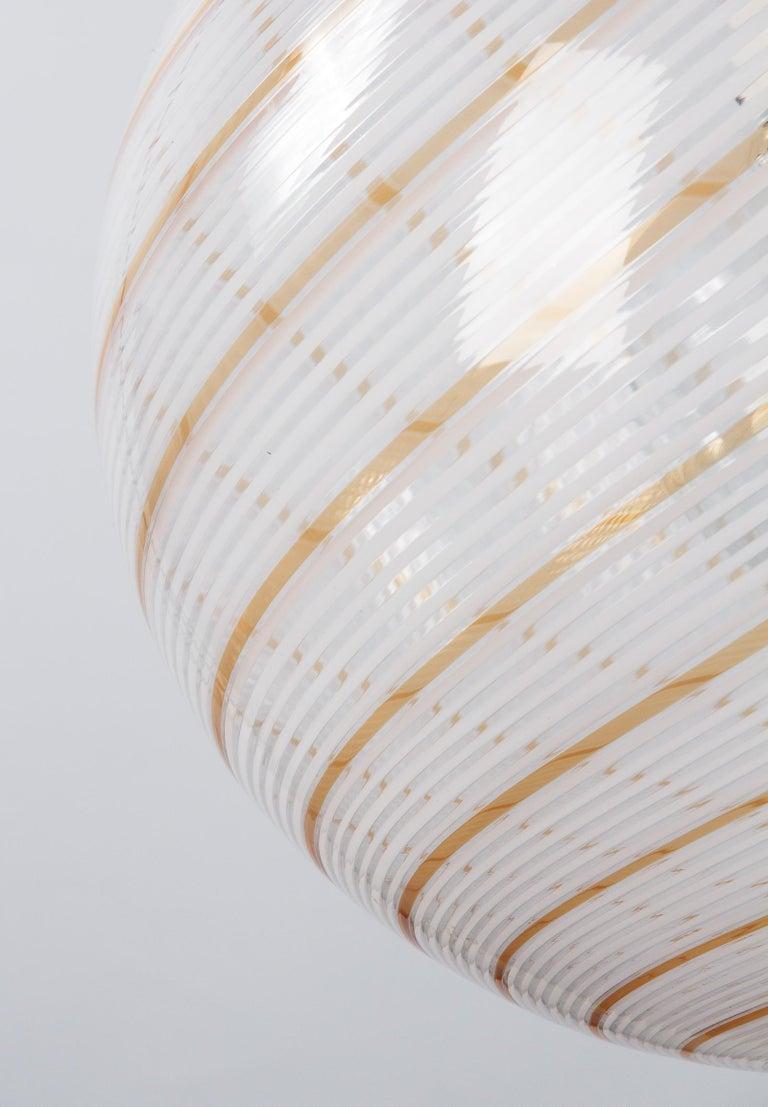 Murano Glass Globe Pendant by Venini, 1970s For Sale 2