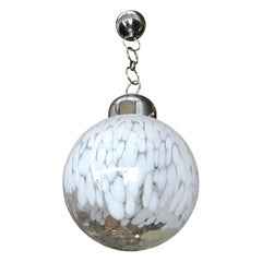 Murano Glass Globe Pendant by Venini