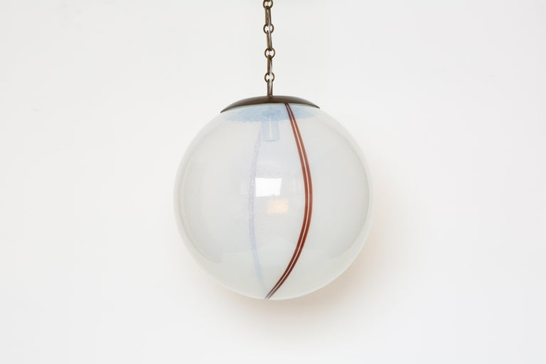 Murano glass globe pendant.