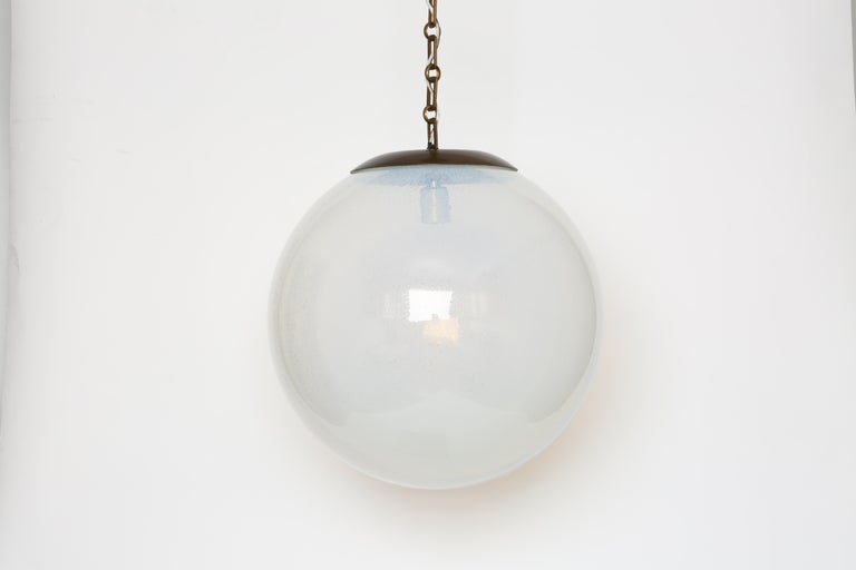Mid-Century Modern Murano Glass Globe Pendant For Sale