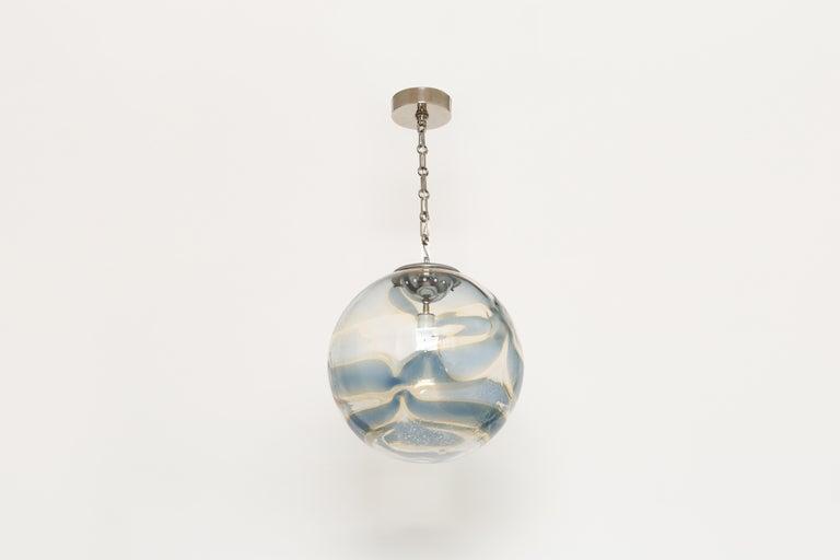 Mid-Century Modern Murano Glass Globe Pendant For Sale