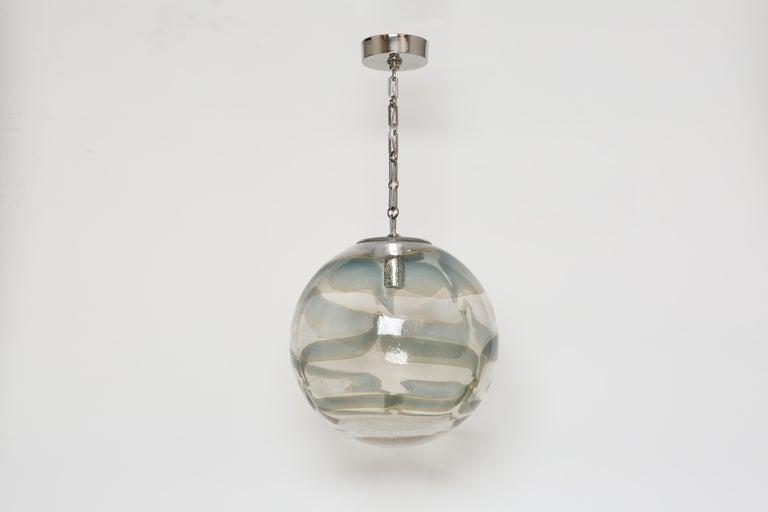 Italian Murano Glass Globe Pendant For Sale