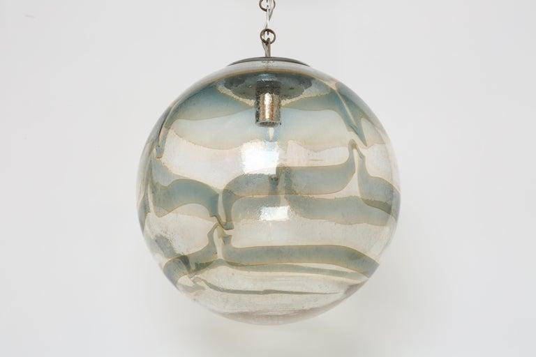 Late 20th Century Murano Glass Globe Pendant For Sale