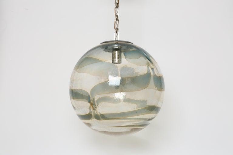 Murano Glass Globe Pendant For Sale 1