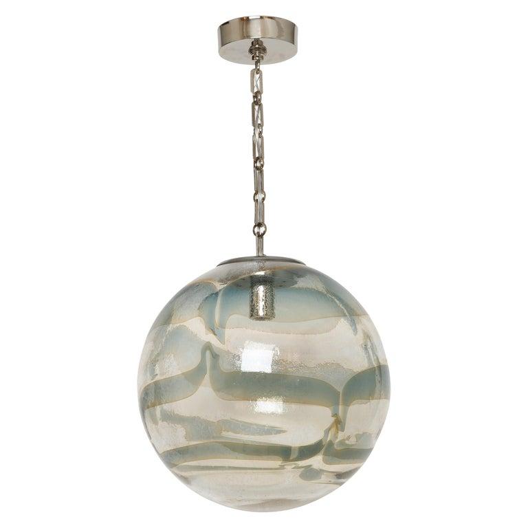 Murano Glass Globe Pendant For Sale