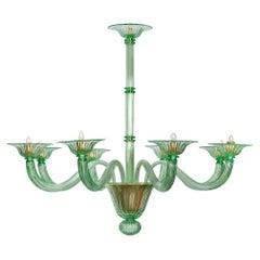 Murano Glass Green Chandelier