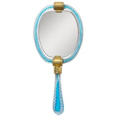 Murano Glass Hand Mirror, 1940s
