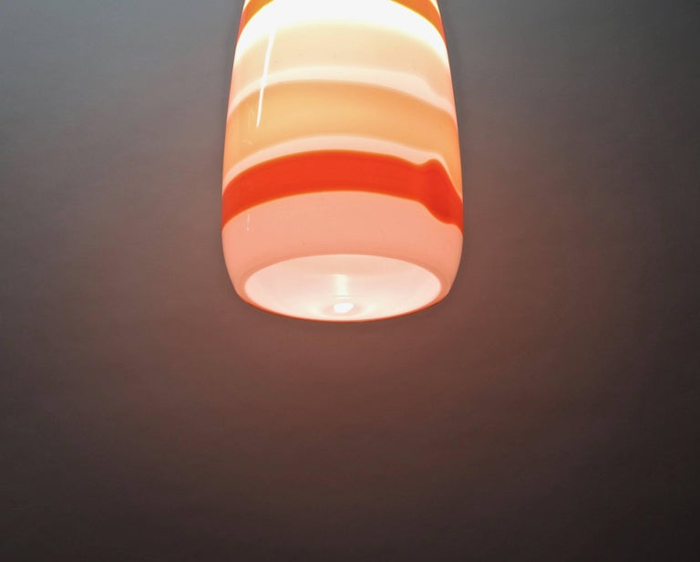 Single Glass Ceiling Light  By Massimo Vignelli for Venini, Made in Italy 1950s For Sale 3