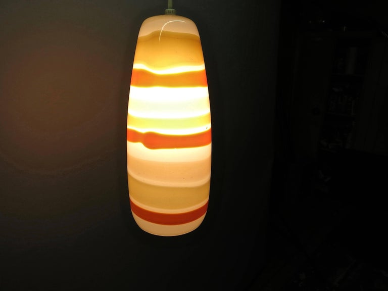 Single Glass Ceiling Light  By Massimo Vignelli for Venini, Made in Italy 1950s For Sale 4