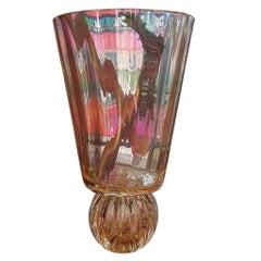 Murano Glass in Gold Handmade Vase Handmade in Italy