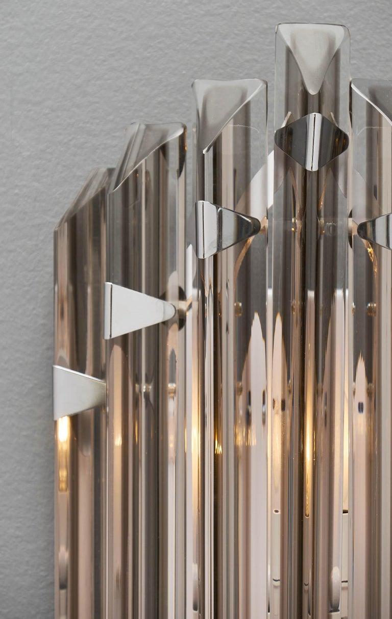 Murano Glass Italian Smoked Venini Sconces 3