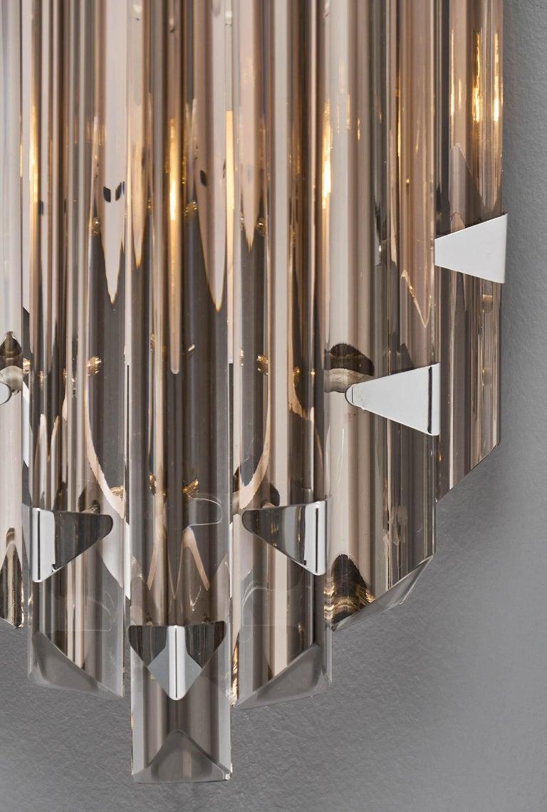 Murano Glass Italian Smoked Venini Sconces 6