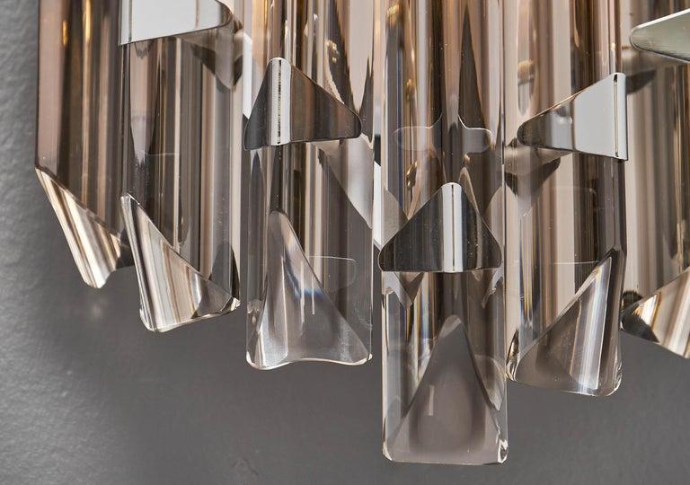Murano Glass Italian Smoked Venini Sconces 7