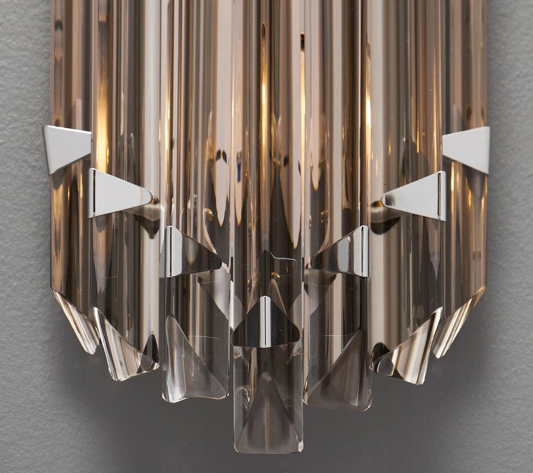 Murano Glass Italian Smoked Venini Sconces 8