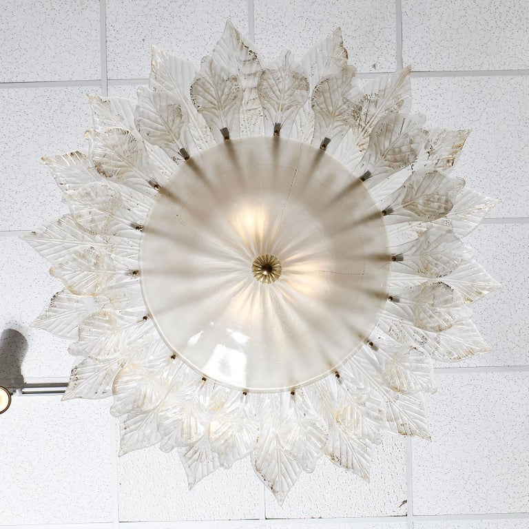 Murano Glass Italian Vintage Chandelier For Sale 5