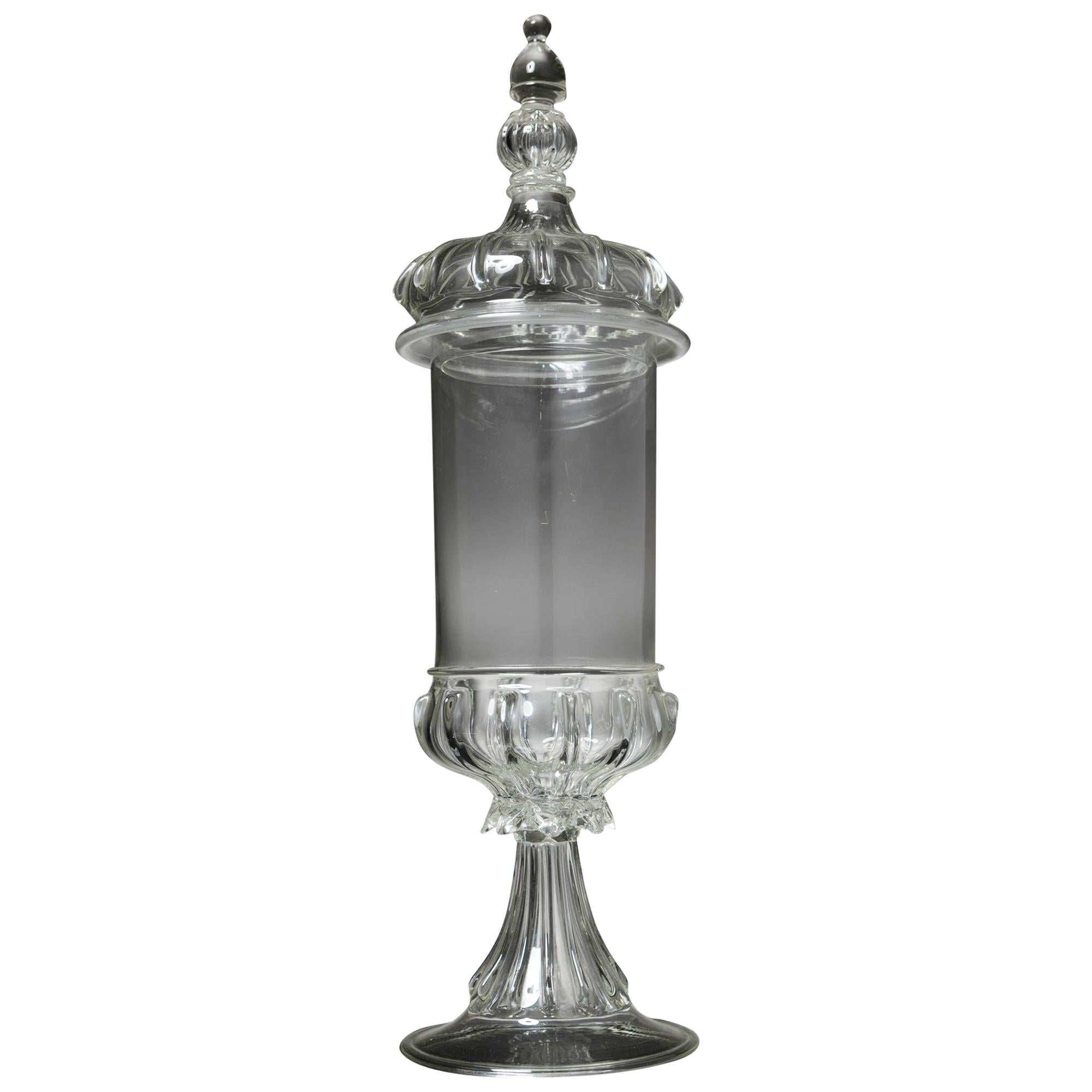 Murano Glass Jar Attributed to Vetreria Vistosi