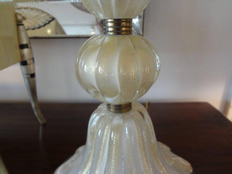 Italian Murano Glass Lamp Attributed to Barovier For Sale
