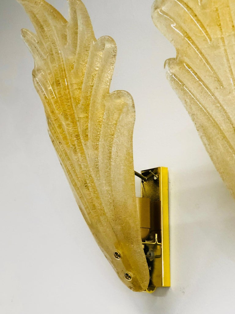 Murano Glass Leaf Wall Sconces ! Trade Price reduced ! For Sale 1