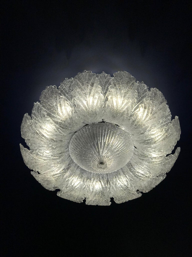 Murano Glass Leave Flush Mount or Ceiling Lights For Sale 5