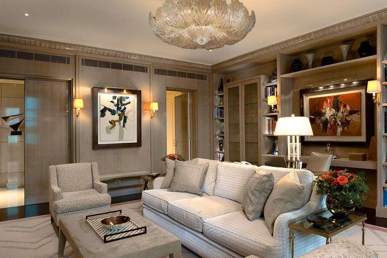 Modern Murano Glass Leave Flush Mount or Ceiling Lights For Sale